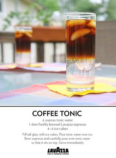Have you tried a Coffee Tonic? This effervescent pairing of espresso and tonic will be your new summer fave. Fun Drinks, Alcoholic Drinks, Beverages, Coffee And Donuts, Espresso Coffee Machine, Winter Cocktails, Tonic Water, Coffee Corner, Drink Menu