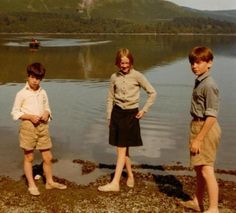 Stephen Grendon, Sophie Neville and Simon West on location by Derwent Water in 1973