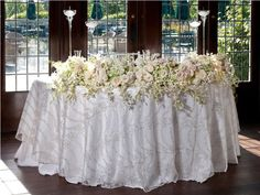 White Shantung Table Linen 3