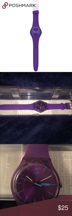 Swatch Purple Rebel watch!! Purple Rebel Swatch watch for sale!! Under great care however needs a new battery. This super cute watch is perfect for spicing up your arm candy 💋 Swatch Accessories Watches