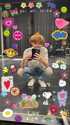K Wallpaper, Aesthetic Iphone Wallpaper, Aesthetic Wallpapers, Kawaii Icons, Bts Kawaii, Images Gif, Bts Aesthetic Pictures, Bts Backgrounds, Hoseok Bts