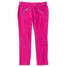Gymboree Girls' Knit Pant with Zip Pocket