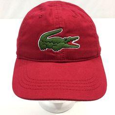 Lacoste Boys Big Croc Gabardine Cap Tokyo Red Adjustable RK1521-51 Sz 6 9  Youth  Lacoste  BaseballCap 9ba4dd9e8411