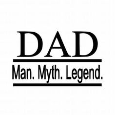 Dad Man Myth Legend vinyl decal for cars walls tumblers cups laptops windows yeti Diy Gifts For Dad, Funny Gifts For Dad, Fathers Day Quotes, Fathers Day Gifts, Dad Rocks, Diy Tumblers, Aprons For Men, Father's Day Diy, Tumbler Designs