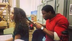 Okieriete onadowan braiding Jasmine's hair. That's a magical sight.