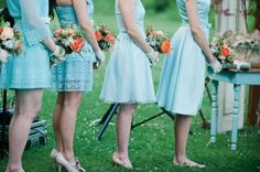 Wedding Photography Ideas : Aqua & Orange Modern Vintage