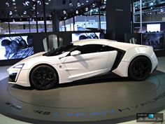 Lebanese car company W Motors introduced the Lykan Hyper Sport in 2013. The company manufactured just seven of these vehicles, which retailed for $3.4 million and were all sold. The Lykan Hyper Sport's LED lights feature diamonds, and the car's interior combines leather and 24 karat gold. The car also offers drivers a holographic display inside the console, which may distract drivers at first.
