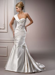 Maggie Sottero: Kristin  -love the style  -not sure about the material
