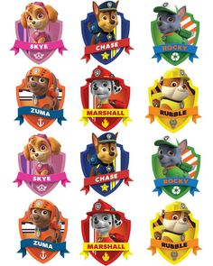 Free Paw Patrol Printables Together With Creative Paw Patrol Party Ideas Pretty My Party A Paw Patrol Free Printable Free Paw Patrol Birthday Party Printables Los Paw Patrol, Paw Patrol Badge, Paw Patrol Party, Paw Patrol Birthday Shirts, Paw Patrol Pinata, Paw Patrol Birthday Theme, Paw Patrol Pups, 3rd Birthday Parties, Boy Birthday