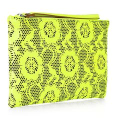 Christopher Kane Lazer Cut Leather Clutch