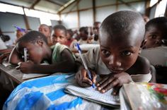 Congo: School for children displaced by conflict