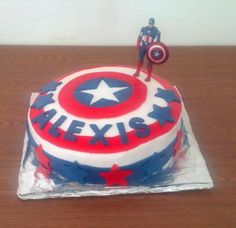 Tuto Gâteau Captain America by Madmoizelle Cupcake