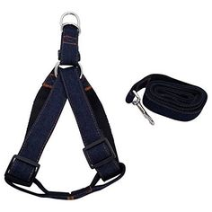 Pet Labs NoPull Adjustable Dog Harness Heavy Duty Denim with Leash Small Black -- More info could be found at the image url.