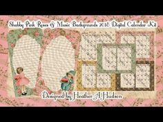 Shabby Pink Roses and Music Digital 2018 Junk Journal Fauxdori Calendar Kit