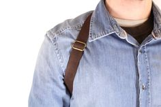 Leather shoulder holster bag / holster bag Made in FRANCE Leather Belt Bag, Leather Skin, Sacoche Holster, Bronze, Military Fashion, Military Style, Bag Making, Etsy, How To Make