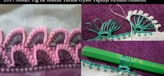2015 Model Tığ İle Kalem Yazma Oyası Yapılışı Resimli Anlatım Needle Lace, Friendship Bracelets, Crochet Projects, Etsy, Watch, Clock, Point Lace, Friend Bracelets