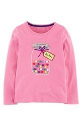 Mini Boden Dotty Appliqué Tee (Toddler Girls, Little Girls & Big Girls)