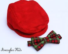 Boys Bow Tie Christmas Plaid Baby Toddler by AveryleeKids on Etsy, $16.50