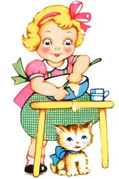 """Vintage Freebie with Keren: Bake Me Pretty Vintage Clip Art"""