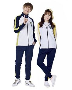 Korean Smart Uniform, Yellow, Navy, (BTS), (GFriend)