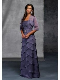 Strapless Layered A Line Mother of the Bride Dresses