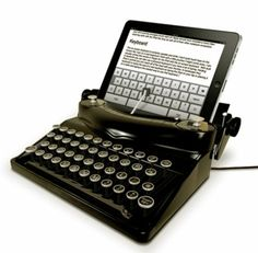 The ultimate in repurposing - a DIY kit to convert your typewriter into an iPad keyboard!  http://www.etsy.com/listing/110949979/usb-typewriter-conversion-kit-easy?utm_source=google&utm_medium=product_listing_promoted&utm_campaign=geekery_mid&gclid=CJSBgerfmbsCFdBlOgodnBsA8w