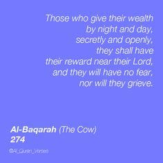 Al-Baqarah : 274 #Quran #Quotes