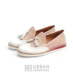 Mocasini dama casual din piele naturala - 203 Plamaniu cu Alb Box Casual, Loafers, Flats, Box, Shoes, Fashion, Travel Shoes, Loafers & Slip Ons, Zapatos