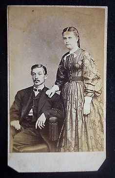 Civil War Era CDV 1860s Photograph Tax Stamp Philadelphia Man and Wife | eBay