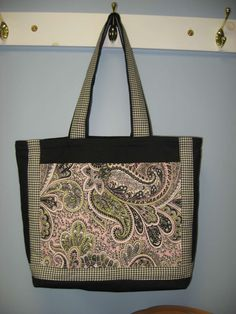 Tote Bag with Pockets and Zippered Extension