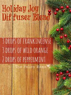Holiday Joy Diffuser Blend | www.thepaleomama.com/essential-oils