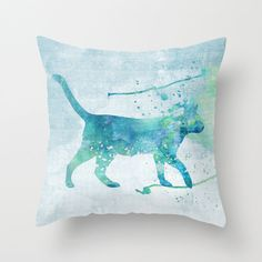 Cat Pillow Case Cat Pillow Cover Cat Throw by MiaoMiaoDesign