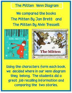 Golden Gang Kindergarten: The Mitten Venn Diagram