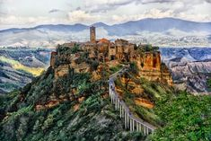 Civita di Bagnoregio, Province of Viterbo, Italy.  -Photo by Tyler Durdan