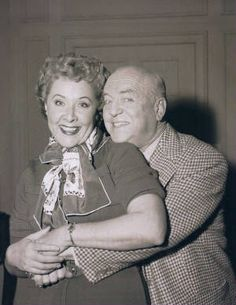 I love seeing pictures of Vivian Vance and William Frawley like this.  I've done extensive reading on Lucy and the gang and they really didn't like each other.  Bill hated Vivian's singing voice!