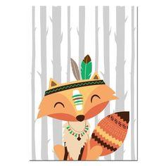 Tribe Woodland Animal Bear Fox Wall Art Canvas Nordic Poster Nursery P – Retrodora Nursery Canvas Art, Nursery Prints, Canvas Art Prints, Canvas Wall Art, Bedroom Canvas, Scrapbooking Image, Dibujos Baby Shower, Tribal Bear, Diy Wand