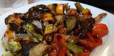 Σκέτη Απόλαυση σε χρώματα σε γεύση! Λαχανικά ψητά στο φούρνο! Kung Pao Chicken, Japchae, Beef, Ethnic Recipes, Cooking Ideas, Food, Cakes, Table, Meat