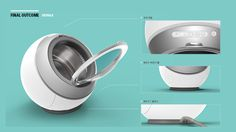 Klein - mini washing machine concept on Behance