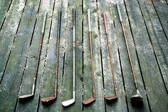 Vintage golf clubs by virginiascottphotos