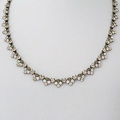 Sorrelli Snow Bunny. Petite crystal cluster necklace, delicate worn alone, great layering piece in champagne & clear crystal. Sparkle!