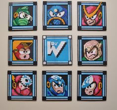 Mega Man 2 wall art! (now with more pics!) - HOME SWEET HOME