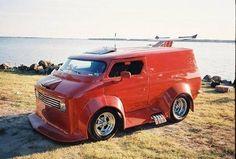 """""""Bad Ass"""" customized show van Old School Vans, Dodge Van, 4x4 Van, Adventure Campers, Vanz, Panel Truck, Hot Rod Trucks, Chevy Trucks, Cool Vans"""