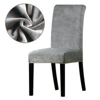 Real Velvet Fabric Super Soft Chair Cover Luxurious Office Seat