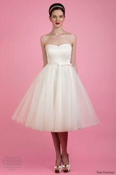 Sweetheart short wedding dress