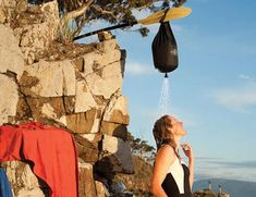 When camping or backpacking, a hot shower with the Pocket Shower by Sea to Summit is the perfect way to end the day. Rolling into a compact zipped pouch, t