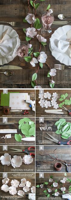 DIY Paper Apple Blossom Branches | Click Pic for 24 DIY Spring Wedding Ideas on a Budget | DIY Spring Wedding Decorations on a Budget