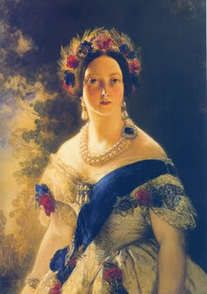 Only child of Prince Edward Augustus Duke of Kent & Princess Victoria (Marie Luise Viktoria) of Saxe-Coburg & wife of Prince Albert of Saxe Coburg and Gotha Queen Victoria by Franz Xaver Winterhalter in Queen Victoria Family, Victoria Reign, Queen Victoria Prince Albert, Victoria And Albert, Princess Victoria, Franz Xaver Winterhalter, Royal Queen, King Queen, Royals