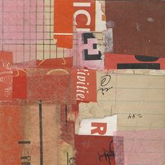 "I Had A Dream We Were In Belgium  2008  mixed media collage  4"" x 4""    Randel Plowman"