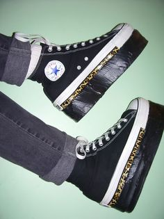DIY_Want to know how to make your own platform creepers?   It's easier than you might expect .Flip Flops + Converse = flashbacks