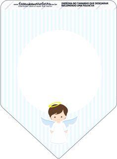 Bandeirinha Batizado Azul Claro